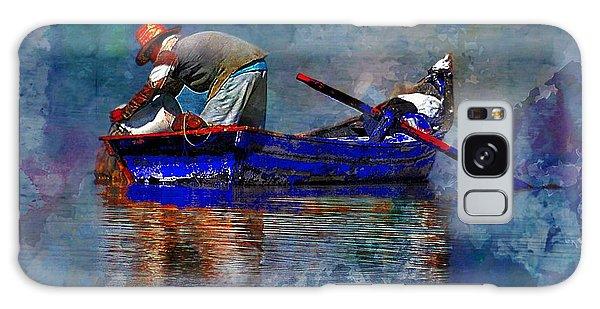Man In A Boat Galaxy Case