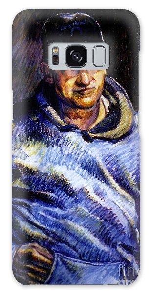 Man In Barn Galaxy Case by Stan Esson