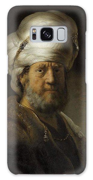 Turban Galaxy Case - Man In Oriental Dress, 1635 Oil On Panel by Rembrandt Harmensz. van Rijn