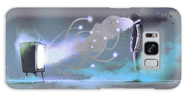 Galaxy Case - Man Standing In Front Of Unusual by Tithi Luadthong