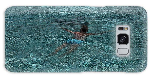 Sportsman Galaxy Case - Man Swimming by Patricia Hofmeester