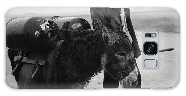 Man With Donkey In Communist Romania Galaxy Case