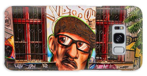 Man With Glasses Galaxy Case by Graham Hawcroft pixsellpix