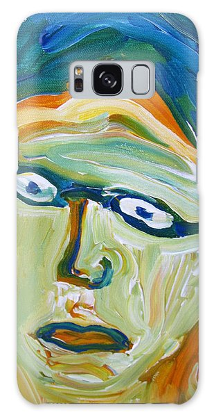 Man With Glasses Galaxy Case