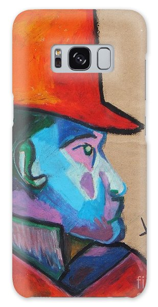 Man With Top Hat Galaxy Case