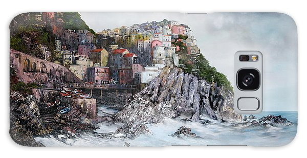 Manarola Italy Galaxy Case by Jean Walker