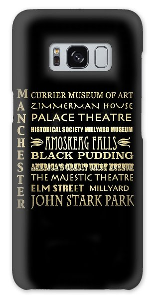 Majestic Galaxy Case - Manchester Famous Landmarks by Patricia Lintner