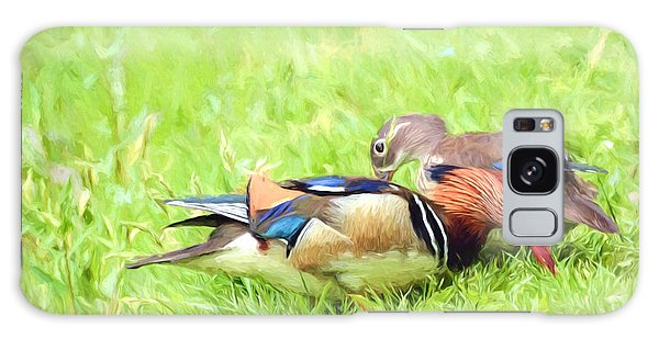 Mandarin Duck Couple Galaxy Case