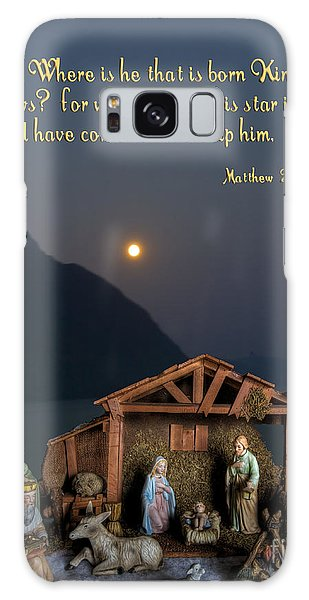 Manger Scene Galaxy Case