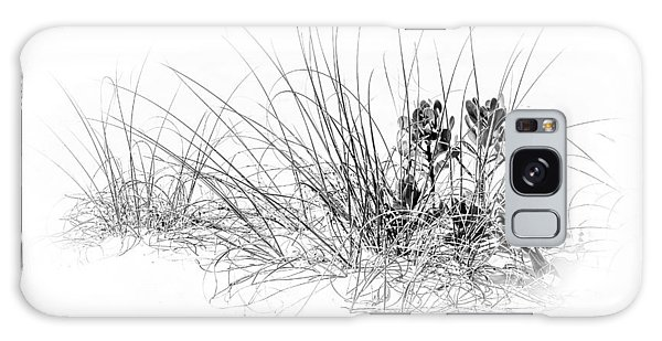 Mangrove Galaxy Case - Mangrove And Sea Oats-bw by Marvin Spates