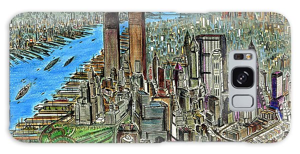 New York Downtown Manhattan 72 Galaxy Case by Art America Gallery Peter Potter