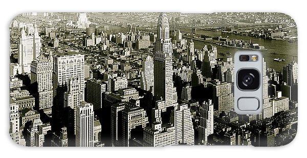 Manhattan And Chrysler Building II Galaxy Case