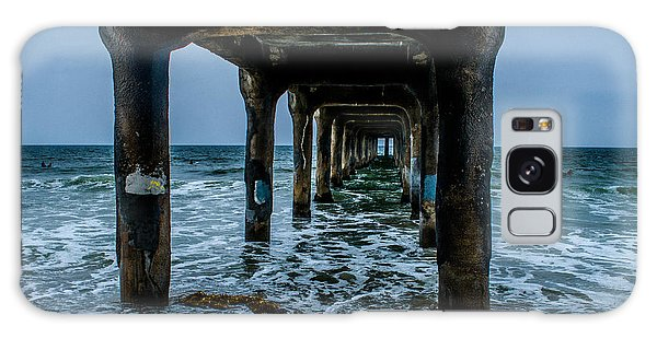 Manhattan Beach Peir Galaxy Case by Joe Scott