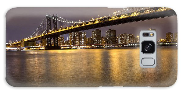Manhattan Bridge Lights  Galaxy Case