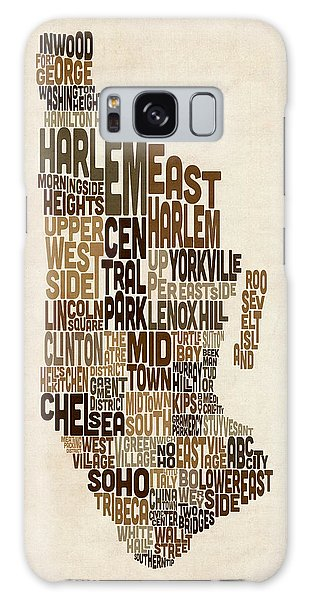 City Map Galaxy Case - Manhattan New York Typography Text Map by Michael Tompsett