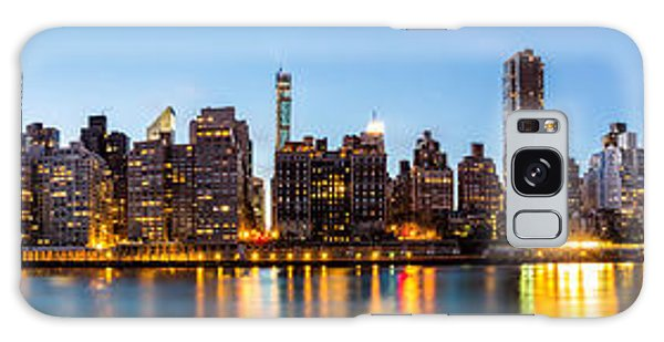 Manhattan Panorama And Queensboro Bridge Galaxy Case