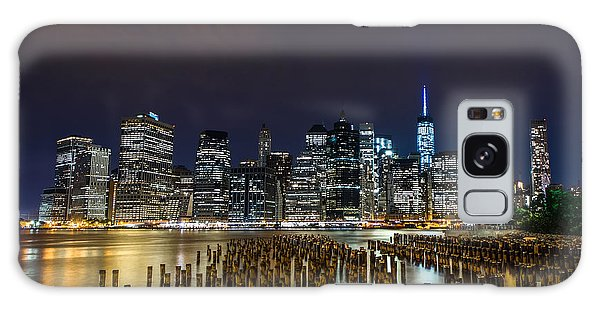 Manhattan Skyline - New York - Usa Galaxy Case by Larry Marshall
