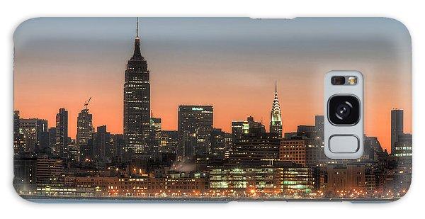 Manhattan Skyline And Pre-sunrise Sky I Galaxy Case