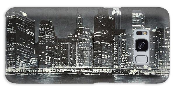 Galaxy Case featuring the painting Manhattan Skyline At Night by Jennifer Hotai