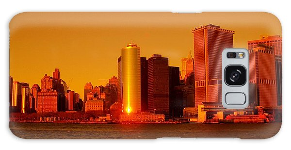 Manhattan Skyline At Sunset Galaxy Case