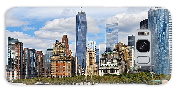 Manhattan's Financial District Skyline  Galaxy Case