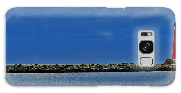Manistique Lighthouse Galaxy Case