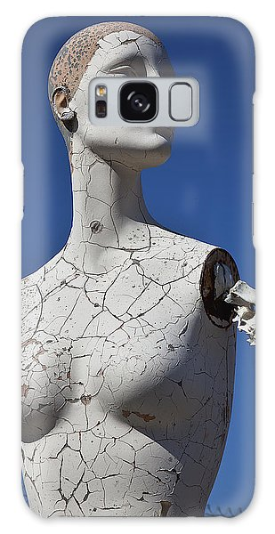 Dress Form Galaxy Case - Mannequin Against Blue Sky by Garry Gay