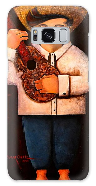 Galaxy Case featuring the painting Manolito El Cuatrista 1942 by Oscar Ortiz