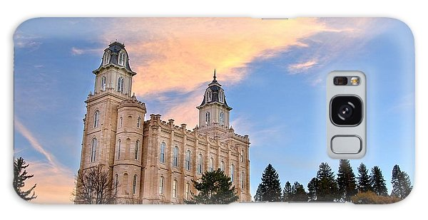 Manti Temple Morning Galaxy Case