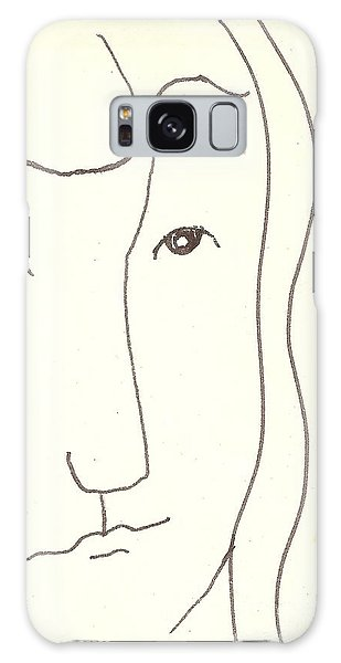 Galaxy Case featuring the drawing Manwoman by Rod Ismay