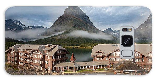 Many Glacier Hotel Galaxy Case by Jack Bell