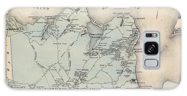Map Of East Hampton 1873 Galaxy Case
