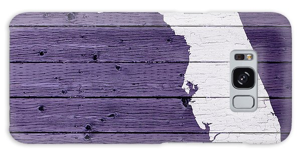 Map Of Florida State Outline White Distressed Paint On Reclaimed Wood Planks Galaxy Case
