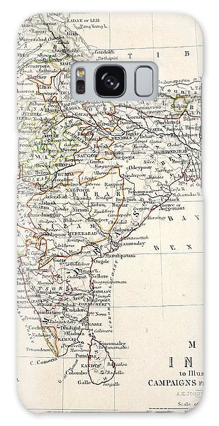 Physical Galaxy Case - Map Of India by Alexander Keith Johnson