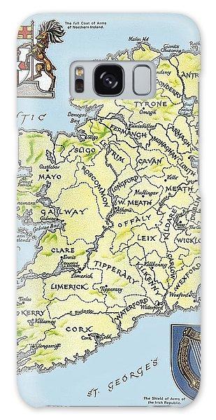 Map Of Ireland Galaxy Case