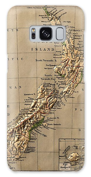 Map Of New Zealand 1880 Galaxy Case