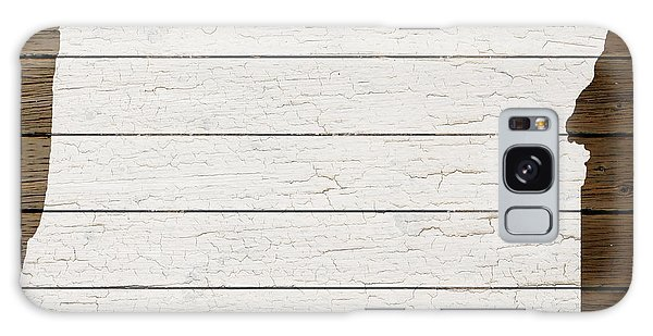 Map Of Oregon State Outline White Distressed Paint On Reclaimed Wood Planks Galaxy Case