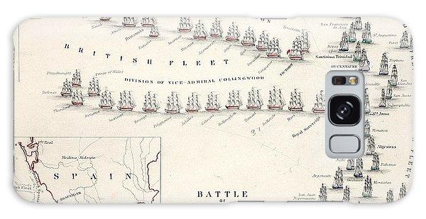 Engraving Galaxy Case - Map Of The Battle Of Trafalgar by Alexander Keith Johnson