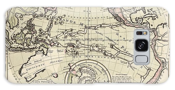 Language Galaxy Case - Map Of The Pacific Ocean by Library Of Congress, Geography And Map Division