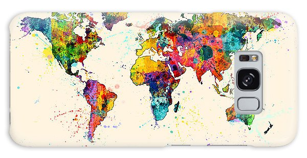 Map Of The World Map Watercolor Galaxy Case