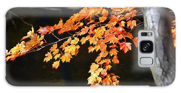 Maple Leaves Galaxy Case by Yue Wang