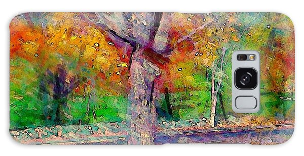 Maple Tree In Autumn - Square Galaxy Case
