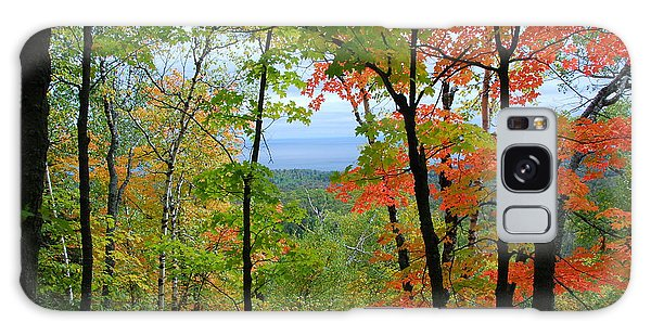Maples Against Lake Superior - Tettegouche State Park Galaxy Case