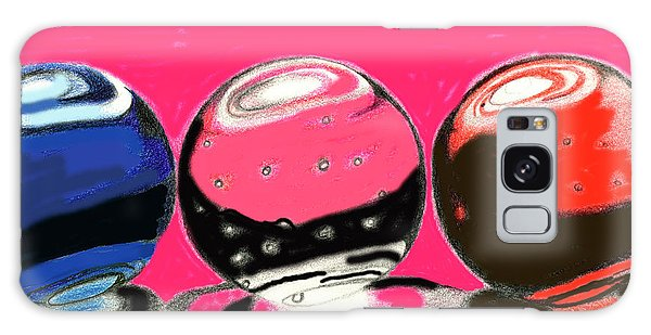 Marble Planets Galaxy Case by Mary Bedy