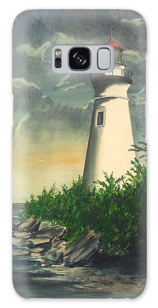 Marblehead Light On Lake Erie Galaxy Case by Frank Hunter