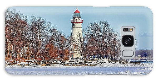 Marblehead Lighthouse In Winter Galaxy Case