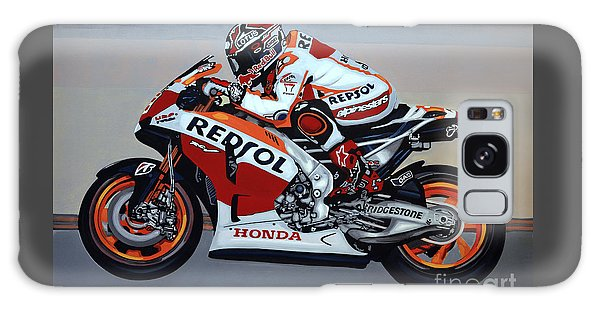 Motorcycle Galaxy Case - Marc Marquez by Paul Meijering