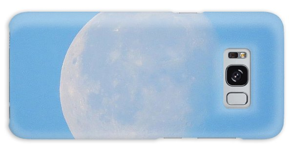 March Daytime Moon Galaxy Case by Kathy Long