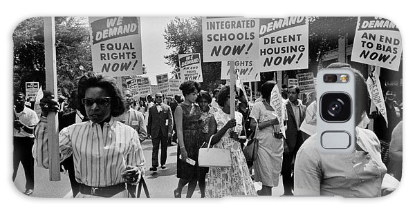 March On Washington Galaxy Case - March For Equality by Benjamin Yeager