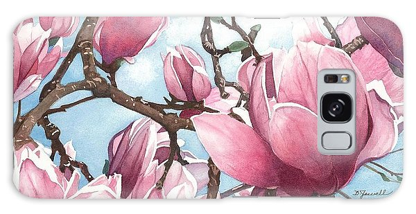 March Magnolia Galaxy Case by Barbara Jewell